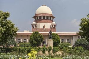 An outside view of Supreme Court in New Delhi on September 26.
