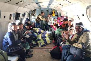 As many as 69 people, including 18 foreign nationals, were evacuated from various places in snow-bound Lahaul-Spiti district of Himachal Pradesh by Thursday afternoon.