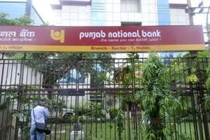 A view of the Sector 1 branch of Punjab National Bank  where two security guards were murdered on  September 21, 2018  in an attempted robbery bid. Police have arrested the main accused, two of his accomplices and a minor.