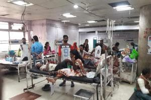 Patients at a ward of Patna Medical College Hospital on Wednesday, September 26, 2018. The junior doctors of the hospital called off their strike after three days.