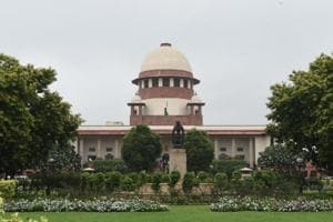A view of the Supreme Court in New Delhi, India .
