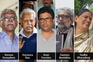 The five activists are accused of links with banned Communist Party of India (Maoist)