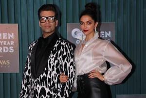 KaranJohar and Deepika Padukone made a stunning entry at GQ Men of the Year Awards