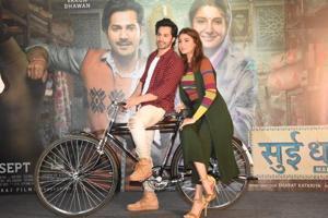 Varun Dhawan and Anushka Sharma promote SuiDhaaga.