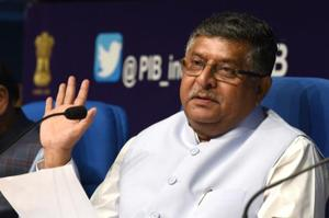 IT minister Ravi Shankar Prasad held a meeting with IT secretary Ajay Kumar Sawhney and UIDAI CEO Ajay Bhushan Pandey to review status of Aadhaar use in light of the Supreme Court judgment.