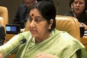 Union Minister for External Affairs Sushma Swaraj during a meeting on climate change at the 73rd UN General Assembly in New York, Wednesday, September 26, 2018.  The minister later addressed a meeting of SAARC foreign ministers.