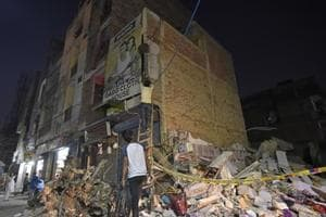 Four children and two women were killed and at least six others were injured, two of them critically, after a five-storey building collapsed in northwest Delhi's Sawan Park near Ashok Vihar Phase-3 on Wednesday morning.