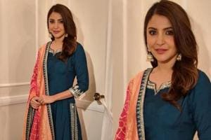 Anushka Sharma made textured traditional choices of silhouettes during Sui Dhaaga promotions.