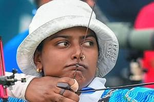Deepika Kumari was in action at the Archery World Cup Finals in Samsun on Sunday.