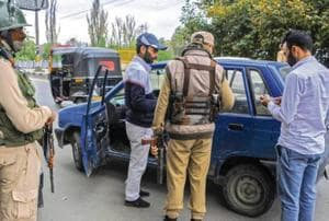 The security has been heightened after a special police officer fled with eight weapons on Friday from the residence of a PDP MLA at Jawahar Nagar in Srinagar on Saturday.