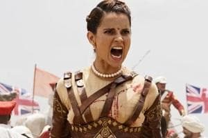 Kangana Ranaut as Rani Laxmibai  in the film  Manikarnika.