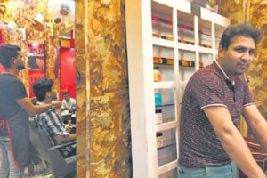 Waseem Ilahi is the proprietor of the Wali's Unisex Saloon in Bazar Chitli Qabar, Delhi .