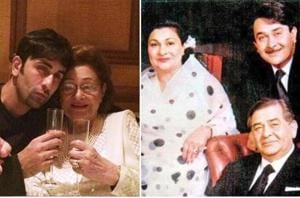 See Krishna Raj Kapoor's sweetest family moments with Ranbir Kapoor, and the entire Kapoor khandaan in the photos below.  (Instagram)