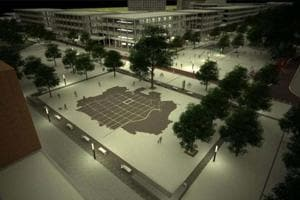 A model of the 30x30-sq-metre map to come up in the Sector-17 Plaza.