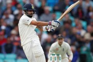 Virat Kohli in action during India's Test series against England.