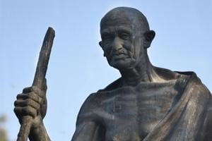 Gandhi's statue at Gyarah Murti has been without spectacles.