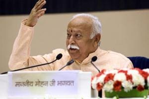 RSS chief Mohan Bhagwat speaks on the last day at the event titled