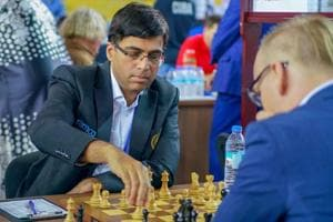 Viswanathan Anand (file picture) was held to an easy draw by David Navarra