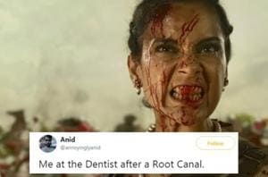 Kangana Ranaut's meme based on a scene from Manikarnika is getting popular on the social media.