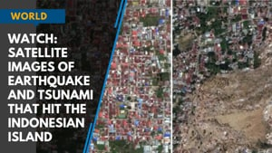 Watch: Satellite images of earthquake and tsunami that hit the Indonesian...
