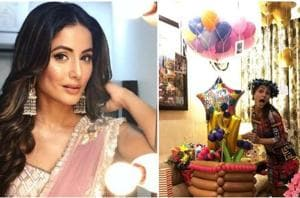 Hina Khan rang in her 31st birthday with a lot of fanfare.