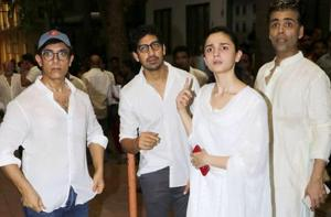 Alia Bhatt made a sombre appearance at the funeral of Krishna Raj Kapoor, Ranbir Kapoor's grandmother. (Instagram)