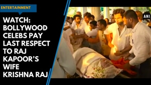Watch: Bollywood celebs pay last respect to Raj Kapoor's wife Krishna R...