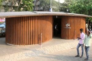 The public toilet at Marine Drive has been built at an estimated cost of Rs 90 lakh and has been designed to go with the area's art deco architecture.