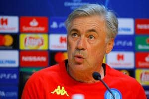 Soccer Football - Champions League - Napoli Press Conference - Centro Sportivo Castel Volturno, Naples, Italy - October 2, 2018 Napoli coach Carlo Ancelotti during the press conference