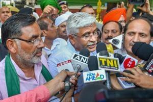 Farmer leaders under the banner of Bharatiya Kisan Union
