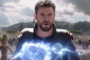 Chris Hemsworth as Thor in a scene from Avengers: Infinity War.