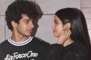 Actors Ishaan Khatter and Janhvi Kapoor during the success party of their film Dhadak in Mumbai.