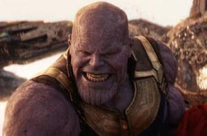 Josh Brolin as Thanos in a still from Avengers: Infinity War.