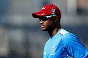 File image of West Indies skipper Jason Holder during a training session.