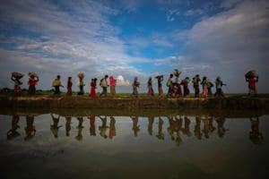 Hundreds of minority Rohingya refugees have been killed in the northern Rakhine province of Myanmar by the military in alleged ethnic cleansing, setting of an exodus with lakhs taking shelter in camps in Bangladesh.
