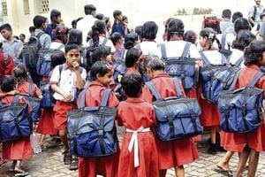 Paediatricians in the city are of the opinion that school bags for children below 10 years should not be above four to five kg in weight. doctors have reported cases of back pain, bad posture and lordosis caused by the burden of school bags