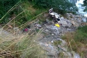 A mini-bus carrying tourists fell into a gorge in Uttarakhand's Uttarkashi district on October 5.