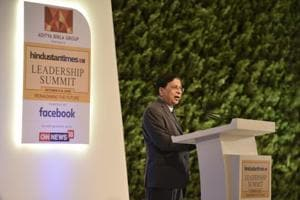Dipak Misra, former Chief Justice of India during the Hindustan Times Leadership Summit, New Delhi, October 5