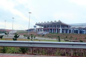 A view of the Kannur international airport that will be inaugurated on December 9.