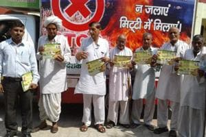 Farmers of a Panipat village pledging to give up stubble burning following an awareness drive.