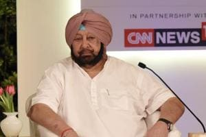 Punjab chief minister Capt Amarinder Singh at the Hindustan Times Leadership Summit at Taj Palace, in New Delhi, on October 6, 2018.