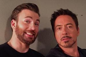 Chris Evans and Robert Downey Jr play Captain America and Iron Man in the Marvel Cinematic Universe.