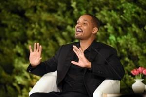 Hollywood star Will Smith at the Hindustan Times Leadership Summit in New Delhi on Saturday.