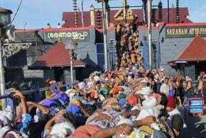 Pathanamthitta district where Sabarimala temple is located is observing a shutdown on Sunday called by the BJP yuva morcha.