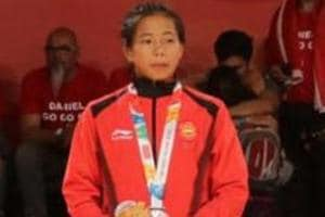 Thangjam Tababi Devi (R)clinched silver in judo at the Youth Games in Buenos Aires.