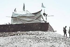 A file photo of the makeshift Ram temple in Ayodhya.