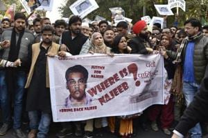 """The Delhi high court """"declined"""" the plea of the missing student's mother, Fatima Nafees, to constitute a Special Investigation Team and monitor the probe, thereby removing the CBI from the investigation."""
