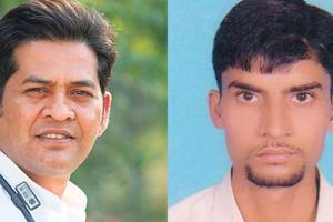 Vyapam scam whistle blowers Dr Anand Rai and Ashish Chaturvedi.