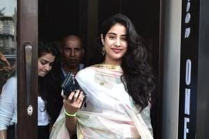 Janhvi Kapoor was spotted in Mumbai.
