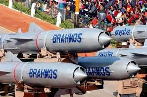 BrahMos missiles on display during the Republic Day parade. (HT file photo)